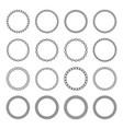 arabic circular frame collection vector image vector image
