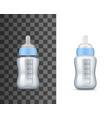 bafeeding milk bottles realistic mockups vector image vector image