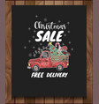 banner of christmas sale with elements vector image vector image
