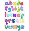 bubble letters vector image vector image