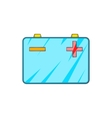Car battery icon in cartoon style vector image vector image