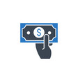 cash payment related glyph icon vector image vector image