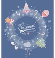Christmas and New year Card with designed text vector image vector image