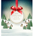 christmas holiday background with a winter vector image vector image