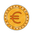 coin euro money cash currency icon vector image