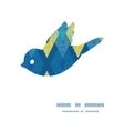 colorful fabric ikat diamond bird silhouette vector image vector image