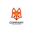creative fox head logo vector image vector image