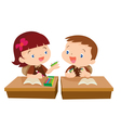 Cute girl student giving for friend vector image vector image