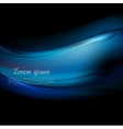 Dark blue smooth waves abstract background vector image vector image