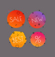 different shopping tags set banners collection vector image vector image
