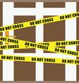do not cross tape on door vector image