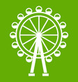 ferris wheel icon green vector image vector image