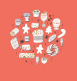 festive symbols dessert drink vector image
