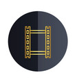 film strip icon black circle background ima vector image
