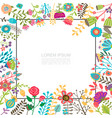 flat floral flourishing bright template vector image vector image