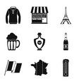 french clothes icon set simple style vector image vector image