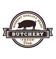 fresh pork butchery logo design vector image