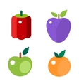 Fruits and vegetable food flat vector image vector image