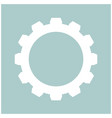 gear the white color icon vector image