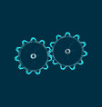 gear-wheel for research vector image vector image
