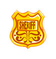 golden sheriff shield badge on vector image vector image