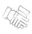 handshake business isolated icon vector image