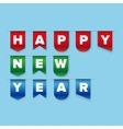 Happy New Year ribbon vector image vector image