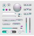 Interface web ui elements vector image