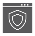 internet security glyph icon safety and network vector image vector image