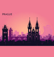 landscape of prague with sights abstract skyline vector image