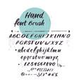 latin alphabet cursive font handwritten vector image