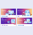 modern flat set effective website designs vector image vector image