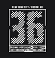 new york typography t-shirt graphics for run vector image vector image