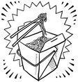 Noodle box vector image vector image