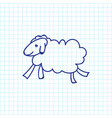 of zoology symbol on sheep vector image vector image