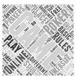 online poker game Word Cloud Concept vector image vector image