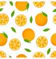 orange seamless pattern isolated on white vector image vector image