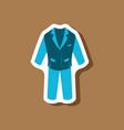 paper sticker fashion clothes men business suit vector image