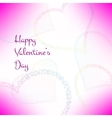 Pink valentines card with stylish hearts vector image
