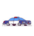 police car line style vector image vector image