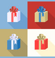 present boxes icon collection vector image vector image