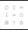 religion outline icons set vector image vector image