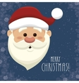 santa claus head isolated icon design vector image