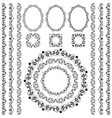 set collections vintage lacy borders and frames vector image