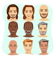 set of male avatar with different hairstyles vector image vector image