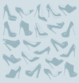 Shoes pattern vector image vector image