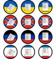 signs of voting in ukraine vector image vector image