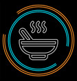 soup bowl - restaurant vector image