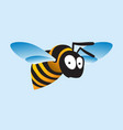 stylized image a flying bee vector image
