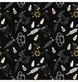 Tattoo machines black seamless pattern vector image
